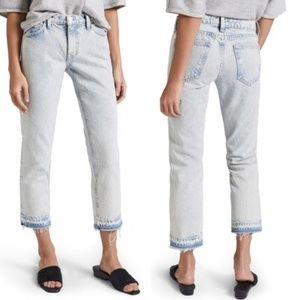 Current/Elliott Acid Wash Released Hem Jeans 30